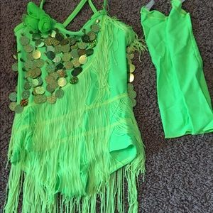 Cute green dance costume